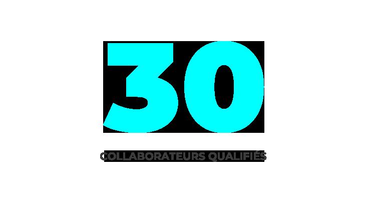 30 collaborateurs qualifiés